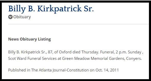Kirkpatrick Obituaries